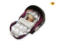 BABEES Babyschale MINKY Einschlagdecke Wendedecke Autositz Kinderwagen Decke EG
