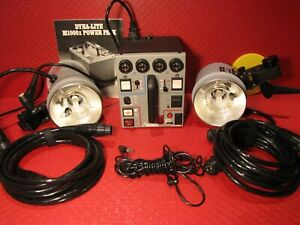 DYNALITE BUNDLE M1000X POWER PACK W/ 2x 2040 HEAD LIGHTS CABLES - WORKS GREAT !