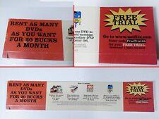 original 2003 Netflix DVD Promo Display Ad prop movie blockbuster video rental