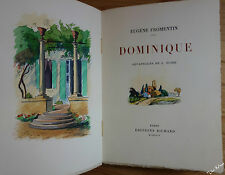 FROMENTIN Dominique. Aquarelles originales de Louis SUIRE NUM sur Arches 1929