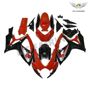 UK Injection Mold Red Fairing Fit for Suzuki 2006 2007 GSXR 600 750 o003