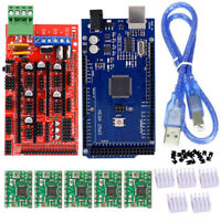 For 3D Printer RepRap Kits RAMPS 1.4 Mega + 2560 R3 Board + 5x A4988 Drivers