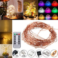 1-32M Solar/Battery/USB Power Fairy Starburst LED String Lights Outdoor Party