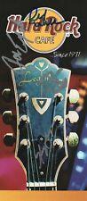 KANSAS band REAL hand SIGNED Hard Rock Cafe advert #1 COA by Kerry Livgren +3