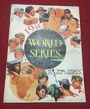1943 World Series program St. Louis Cardinals New York Yankees G 1 Joe Gordon HR