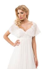 Wedding Lace Ivory Bridal Shawl Wrap Stole Shrug Bolero Cape S M L XL White