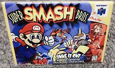 """Super Smash Bros N64 Vintage Game Box  2""""x3"""" Fridge Locker MAGNET Nintendo"""