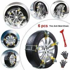6× Tire Anti-Skid Snow Chains Ice Mud Road Car SUV Emergency Thickening Size M