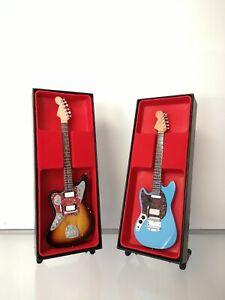 Kurt Cobaine Electric Duo  Miniature Guitar Replica Set (Nirvana)
