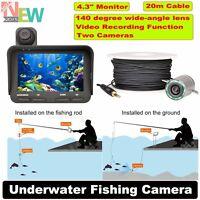 "New 20m Fish Finder Video Underwater Fishing Camera Night Vision 4.3"" HD Monitor"