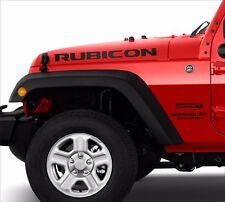 Jeep rubicon Decal-Sticker Emblem Logo SET BLACK MATT