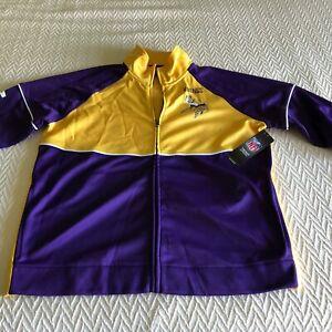 Minnesota Vikings Ladies Running Jacket NFL G III Brand Size M Medium NEW