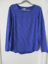 Womens L Blue work out top long sleeve Tek Gear on the go fall winter