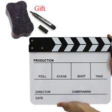 Movie Director Scene Clapperboard TV Movie Clapper Board Film Slate Cut Prop