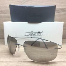 Silhouette Titan TMA Ultra Thin 8677 60 6233 Sunglasses Matte Ruthenium Grey