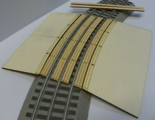 "RR X Crossing ramps for Lionel O Fastracks 36"" curve, laser engraved NEW listing"