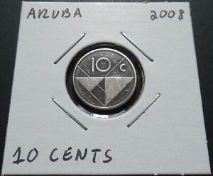 Aruba 10 Cents 2008 Coin in 2x2 Flip A1012