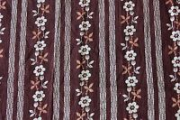 """Antique American Brown c1880-70 Printed Floral Cotton Calico Fabric~L-24""""X W-23"""""""