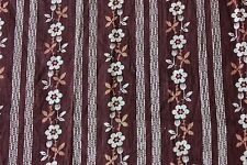 Genuine American Brown c1880-70 Printed Floral Cotton Calico Fabric~Dolls,Quilt