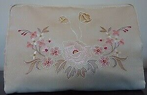 Embroidered Toiletry Bag | Cornelia Embroidery