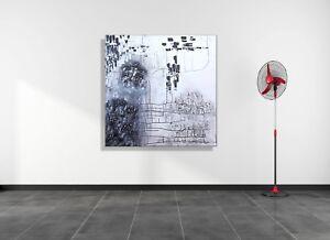 ORIGINAL Leinwandbild HANDGEMALT Abstrakt modern XXL Bilder Wandbild Gemälde