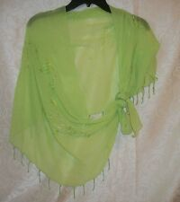 Gorgeous Green Bathing Suit Sarong NEW