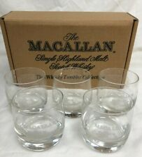 Macallan The Whiskey Tumbler Collection Set Of 5 Malt Glasses Boxed #100