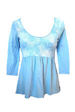 BRAND NEW HOLLISTER WOMENS LACE TOP SHIRT TEE TUNIC EASY FIT BOHO BLOUSE SZ S
