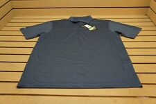 New Page & Tuttle Golf Heather Polo Mens Size Large Navy 101A  Shirt Clothing