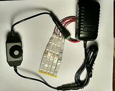 HO Led Light Strips, Dimmer, Adapter, 2 amp Power Supply. Complete Package!