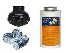 Aktivkohlefilter Lüftungsset  Rohrventilator 420 / 360 m³ AKF Abluftset grow