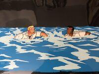 Street Sharks Original Production Animation CelUSA Navy Sailors Swimming Ocean