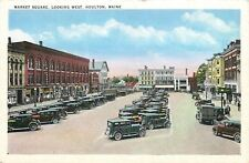 Houlton Maine~Market Square~Richards~Store Displays~GAR~Furniture~1920s Cars