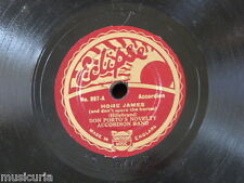 """78rpm 8"""" DON PORTO ACCORDION BAND home james / learning to play the accordion"""