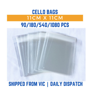 Clear Resealable Self Adhesive Cello Bags 11cm x 11cm - 70/210/560/1050 pcs