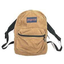 VTG JanSport Brown/Tan Corduroy Backpack Book Bag RARE