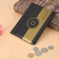 10 Pages 120 Pockets Coin Album Penny Money Holders Storage PVC Collection Book