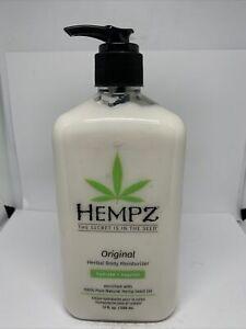 Hempz Original Hydrate + Nourish Herbal Body Lotion ~ Moisturizer ~17 fl oz NEW!