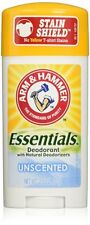 NEW Arm & Hammer Essentials Natural Deodorant Unscented 2.50 Ounces (12 Pack)