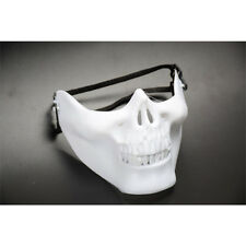 Skeleton Half Face Mask Costume Halloween Party Airsoft Skull Mask Horror Field