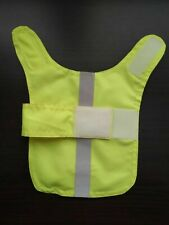 Size medium Waterproof dog coat. Florescent yellow Hi Viz. reflective strip