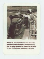 Satchel Paige in Rocking Chair  Press Release METAL Sign - Kansas City
