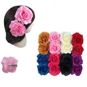 12pcs Bridal Rose Flower Hairpin Brooch Wedding Bridesmaid Party Hair Clip Lots