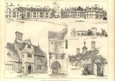 1906 Sketch Of The Porch, Glinton, Thorpe Hall, Rockingham Castle, Kirby Hall