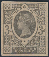 1887 JUBILEE SG202 3d BLACK ON GREEN IMPERF PLATE PROOF