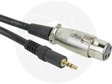 XLR Female Jack to 3.5mm Male 1/8 TRS Stereo Microphone Mic Audio Cable 2m 6ft