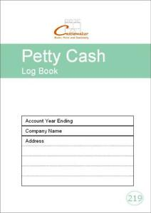 Petty Cash Log Book (A5) P219, Small Accounts Ledger