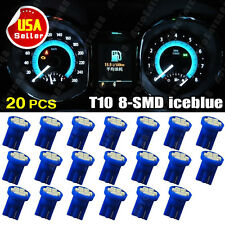 20 X Iceblue T10 194 Fit Toyota *SUPER BRIGHT LED Instrument Panel Light Bulbs