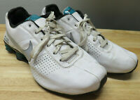 Rare Nike Shox Deliver Mens 12 White Leather Athletic Training Running Shoes
