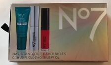 BOOTS No 7 Stand Out Set Serum Lip Gloss Mascara Christmas Makeup Set New NIB